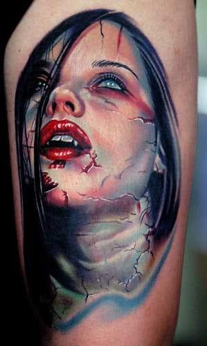 Stunning vampire portrait by Nikko Hurtado