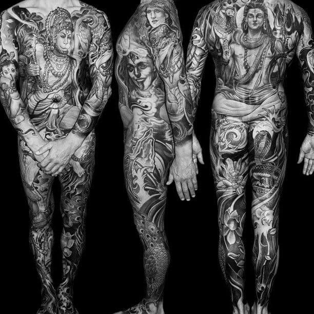 A badass Hindu Gods full bodysuit by Isnard Barbosa.