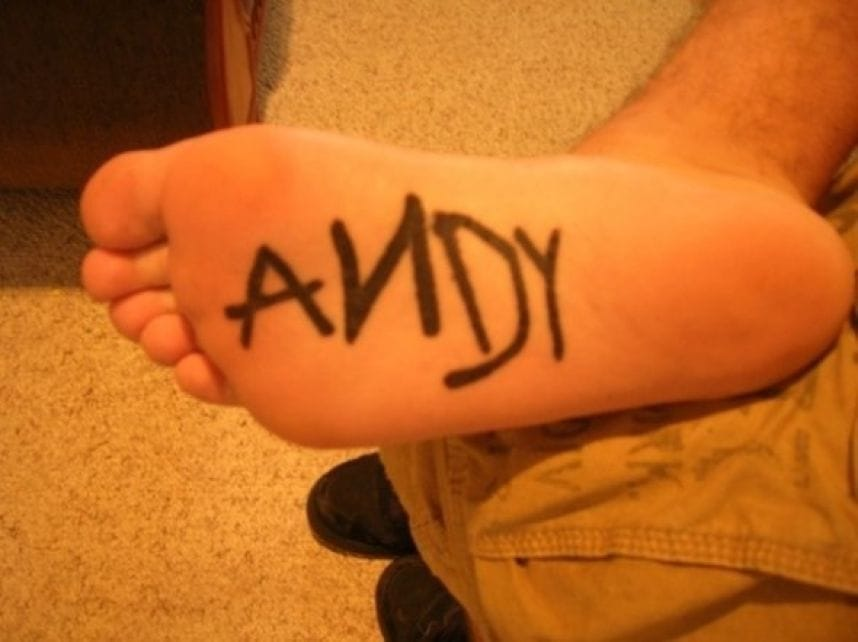 Andy foot Tattoo - Markus Robertson, uwould1269 Twitter