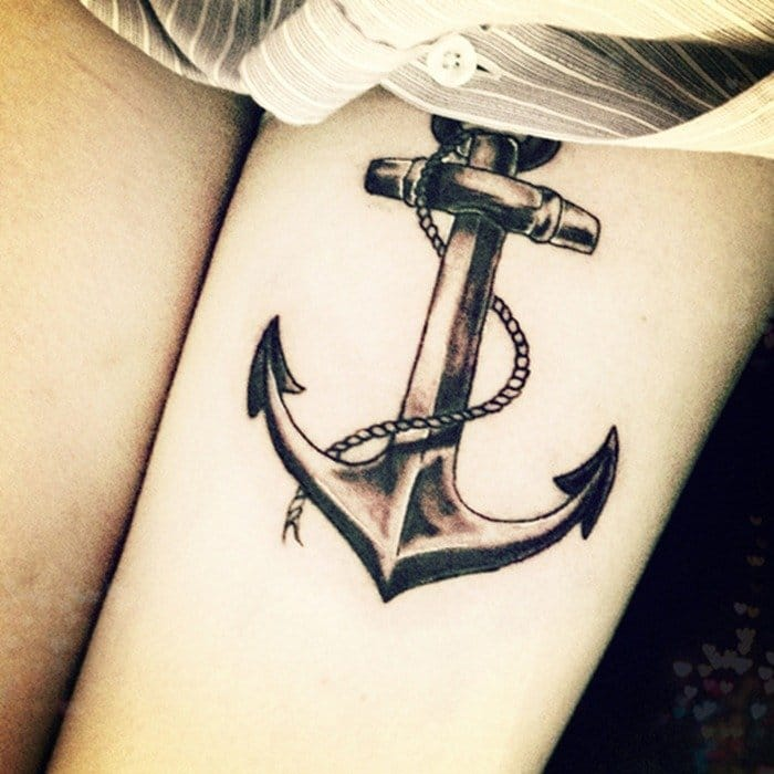 Simple and bold anchor tattoos like this are as popular now as they have ever been!