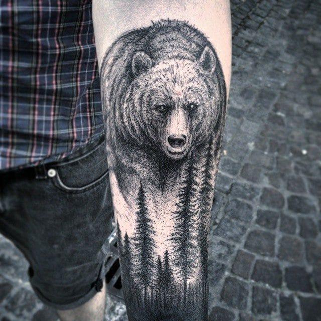 40 Bold and Brazen Bear Tattoos