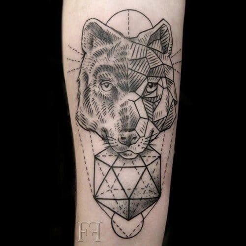 Wolf tattoo, unknown artist