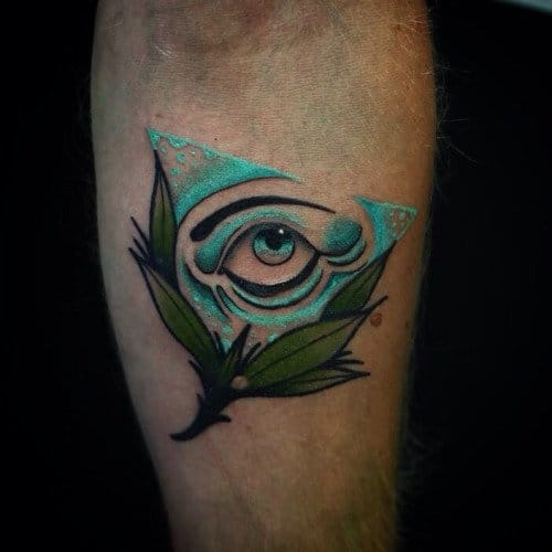 All-seeing eye tattoo by Aaron Breeze #eye #aaronbreeze