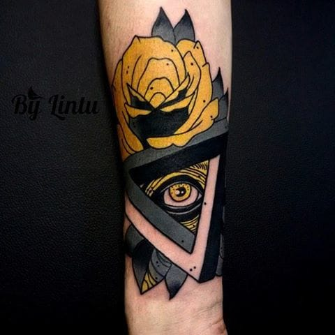 Crazy eye tattoo by Yuliya Lintu #eye #yuliyalintu #illuminati