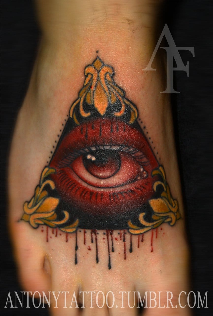 All-seeing eye tattoo by Antonya #eye #illuminati
