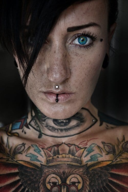 Self-portrait, eye tattoo via trustmydemon/Tumblr #eye #eyetattoo