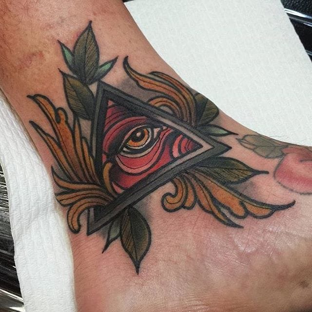 by Richie Blackheart at Green Lotus Tattoo #eye #allseeingeyetattoo #eyetattoo #richieblackheart