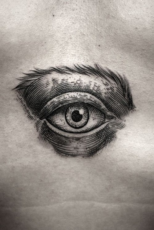 Eye tattoo by Kamil Czapiga of Katowice, Poland. #eye #allseeingeyetattoo #eyetattoo