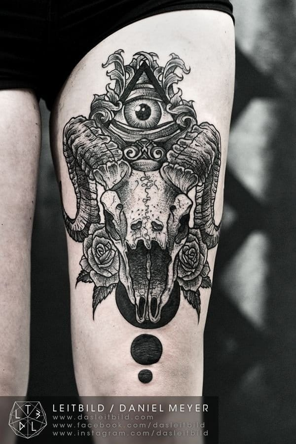 by Daniel Meyer #eye #allseeingeyetattoo #eyetattoo