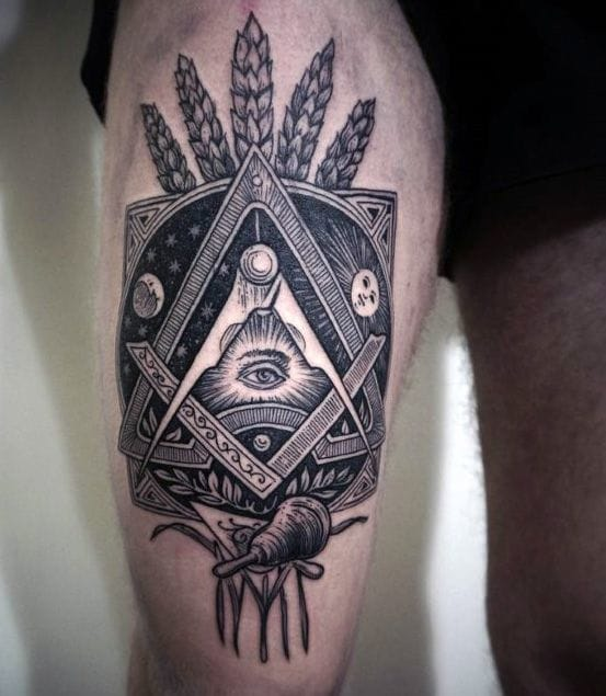 Artist unknown. #eye #allseeingeyetattoo #eyetattoo