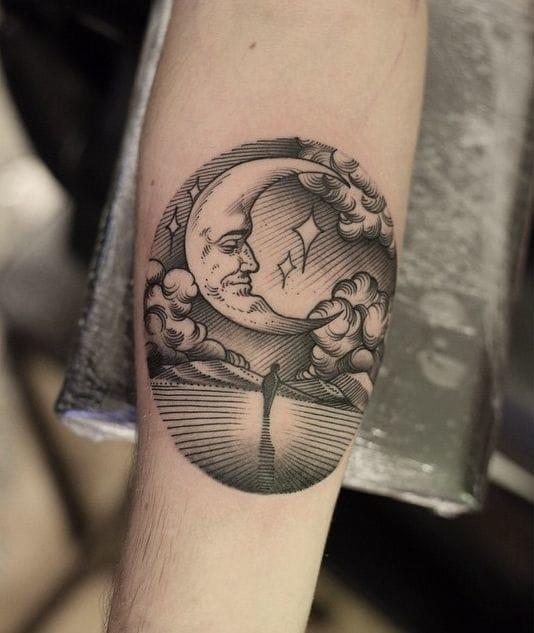 16 Poetic Moon Tattoos