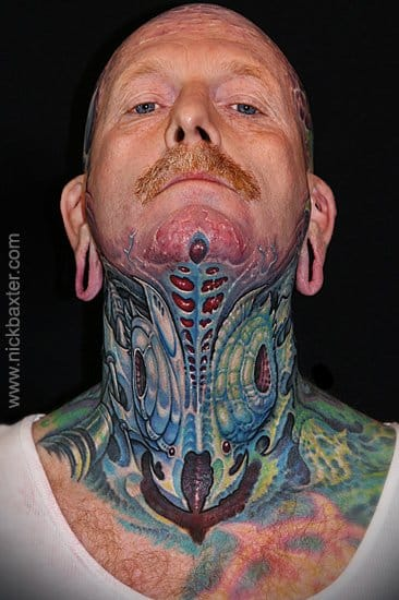 Biomechanical throat by Nick Baxter