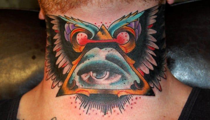 20 badass throat tattoos tattoodo for Tattoo nightmares shop location