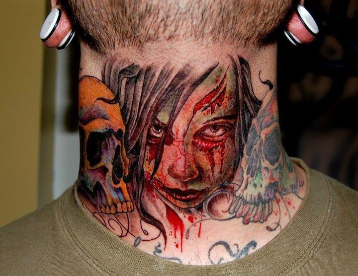 Zombie throat by Jason Rhodes