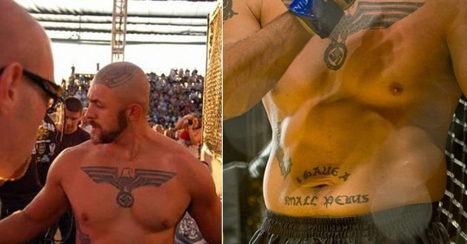 """Melvin Costa's worst tattoos, Neo Nazi and """"I have a small penis"""" lettering tattoo #neonazi #lettering #melvincosta #worsttattoos"""