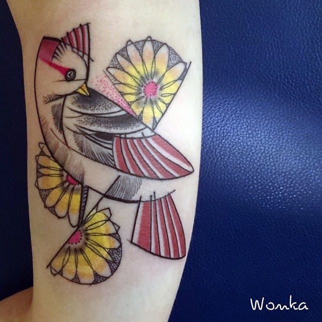 Lovely abstract bird by Wonka.
