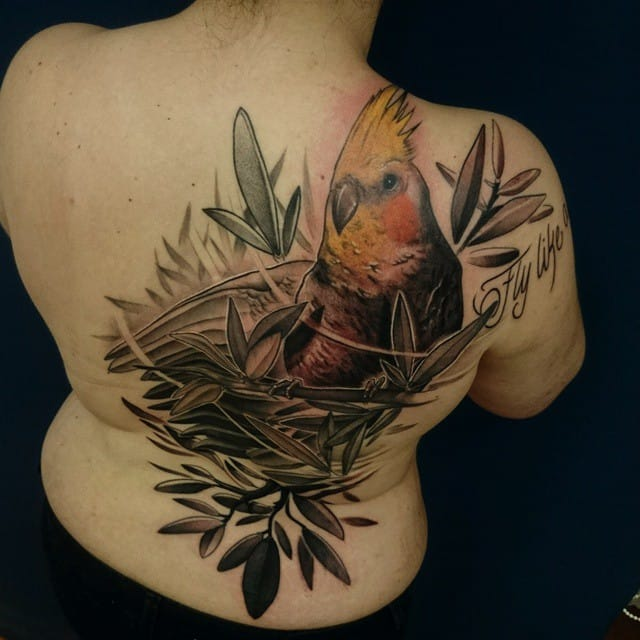 Nice back tattoo, but the name of the artist went missing. Can you add it in comments please?