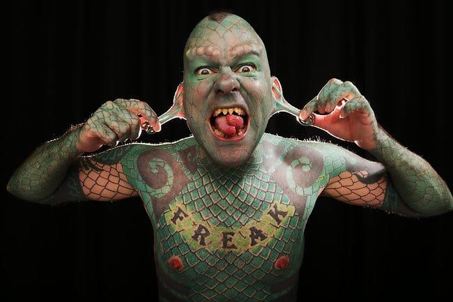 Meet Erik Sprangue: The Lizardman