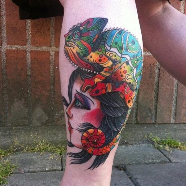 Chameleon gypsy by JH Tattoo