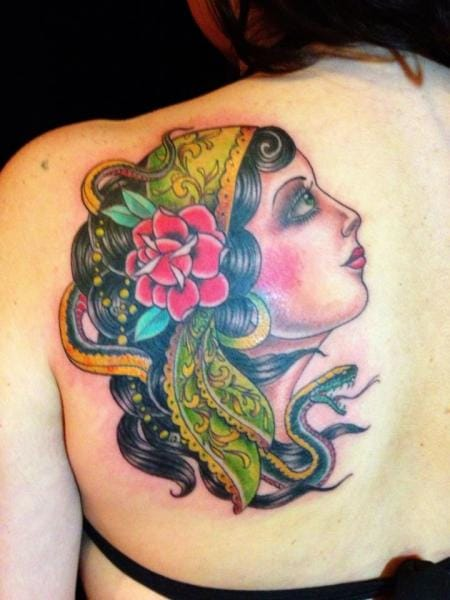 Great gypsy tattoo by Black Cat Tattoos