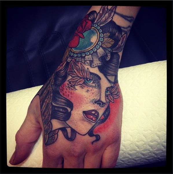 Old school hand gypsy by Time Travelling Tattoo