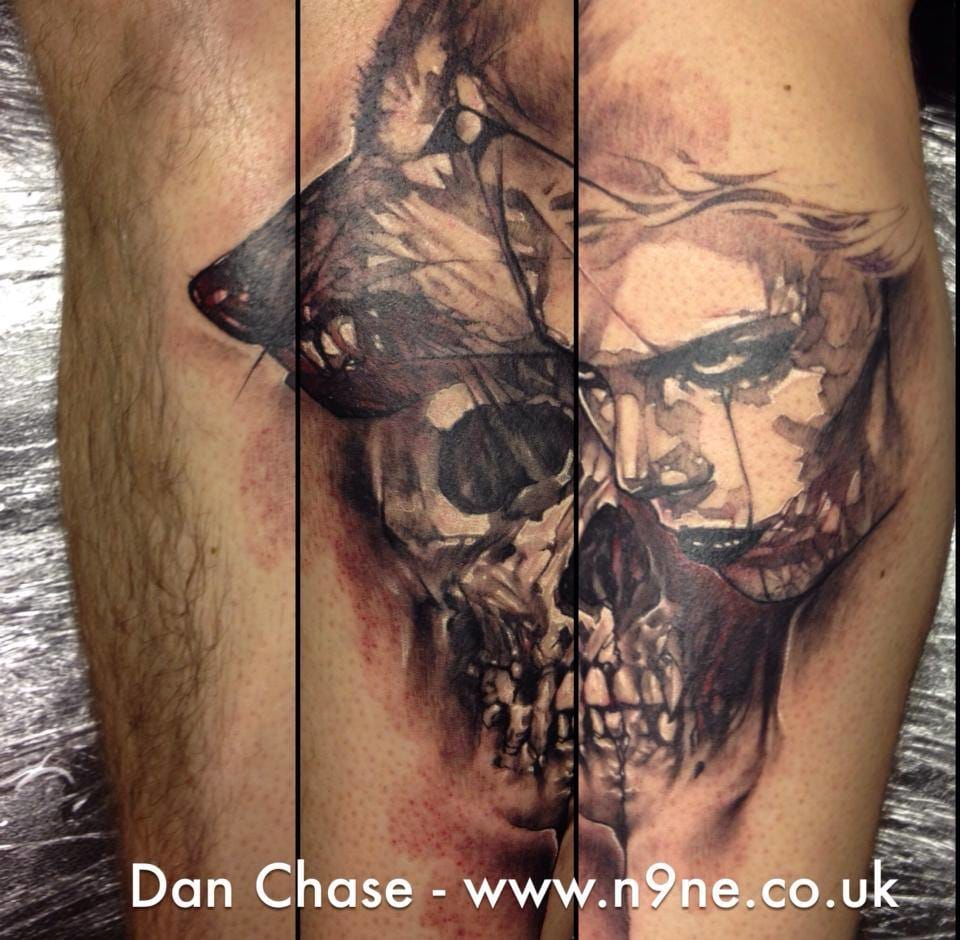 Do you know the watercolor effect of skull tattoos made by artist Dan Chase? If not, you definitely need to check it. Skull tattoo by Dan Chase #skull #danchase
