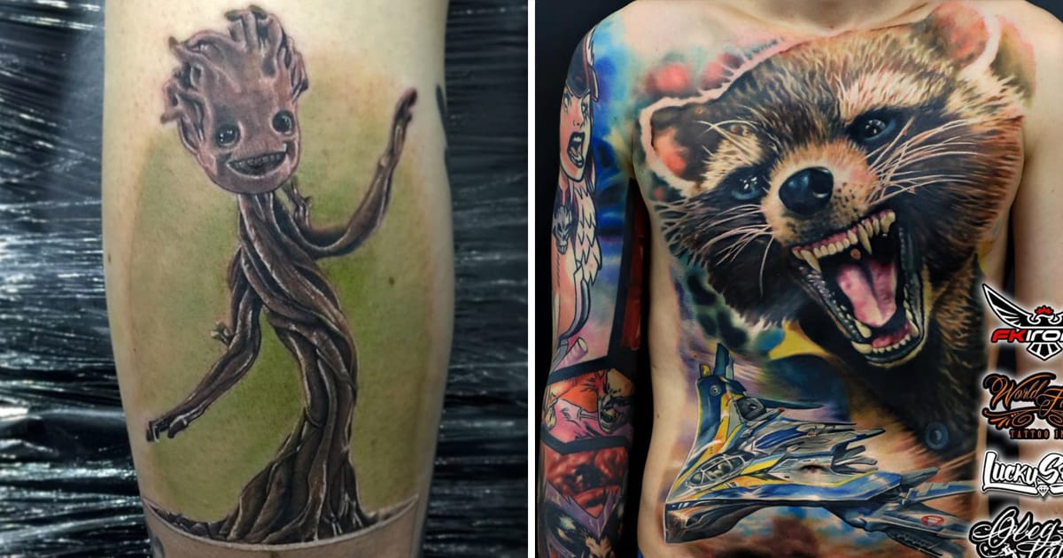 for nerds by nerds guardians of the galaxy tattoos tattoodo