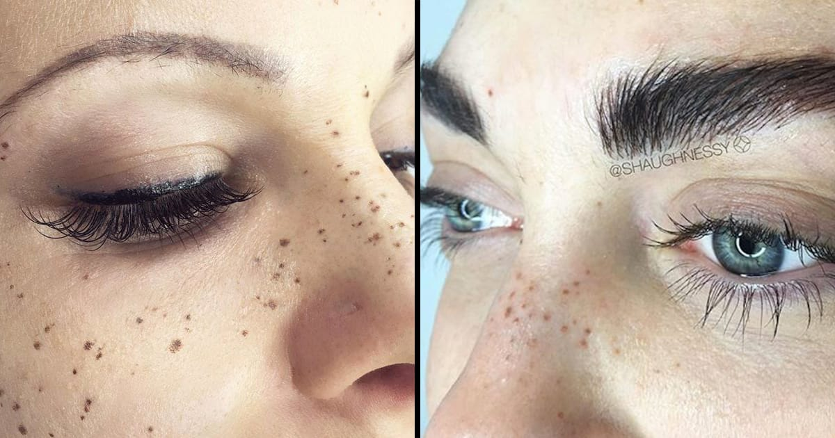 The tattoo freckles beauty trend has hit Australia