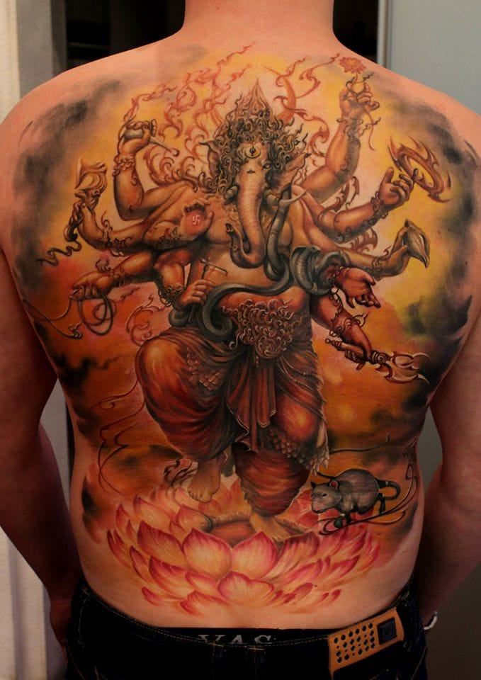 How badass is this Ganesh backpiece???