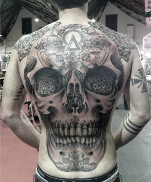 Skull Back Piece: Celebrate Your Brain Fortress With Skull Tattoos
