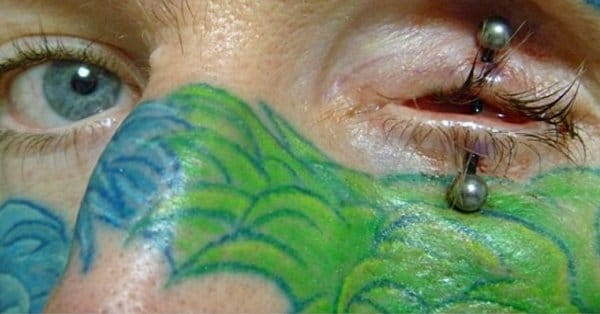 Eyelid Piercing Gone Wrong Extreme Body Mod: Eyel...