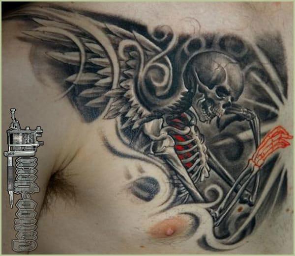 Gorgeous angel skeleton by Victor Portugal. #angel #victorportugal #skull