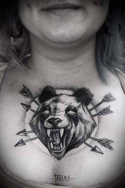 A more badass panda as a chestpiece by Tabuns.