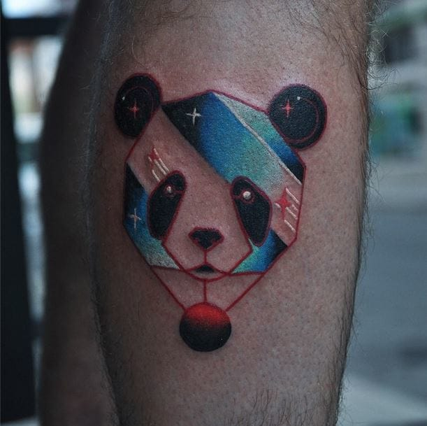 Lovely hot-air balloon panda by David Côté...