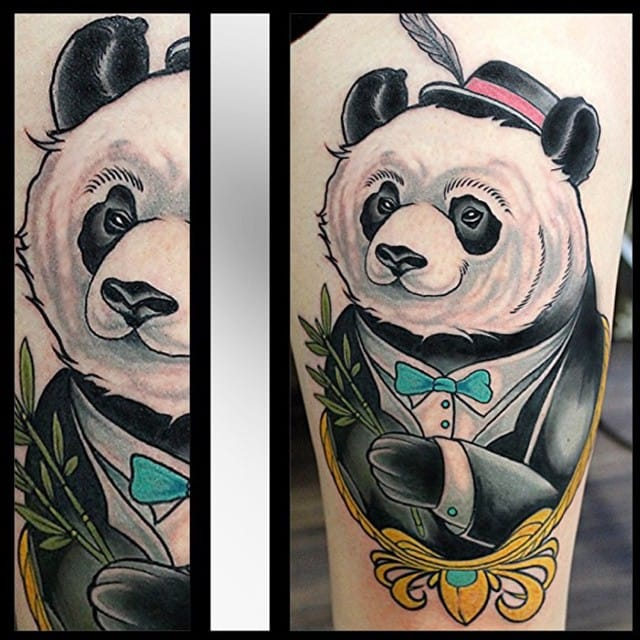 Another neo traditional dapper bear by Brian Povak.