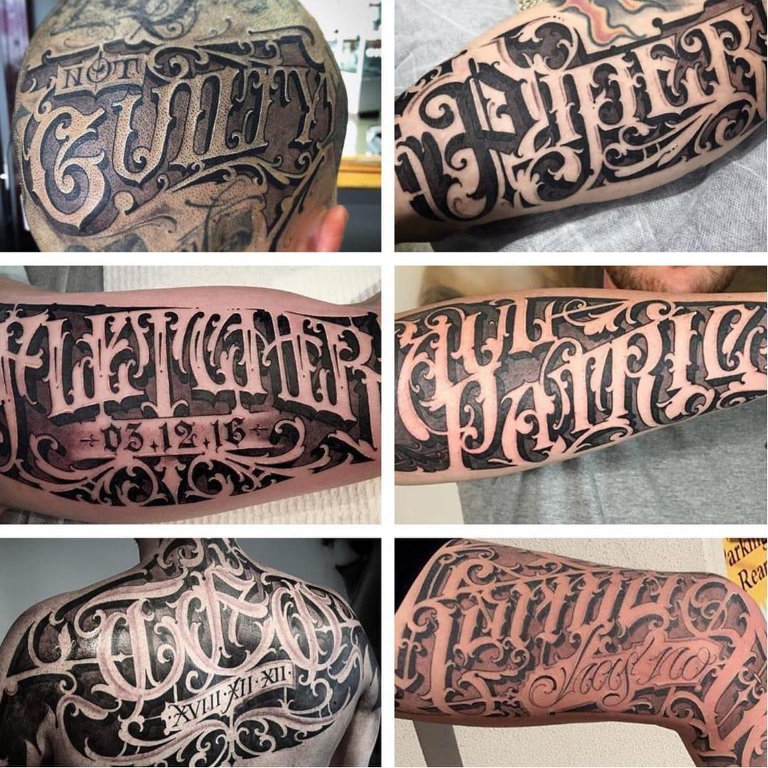 Unique Tattoo Lettering Designs