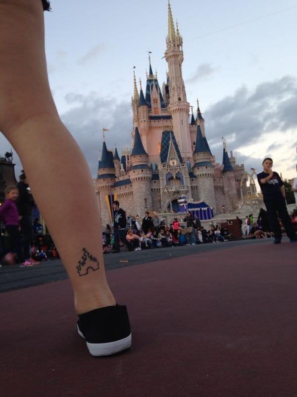 Cinderella Castle Tattoo, Jordan Redd, Pinterest