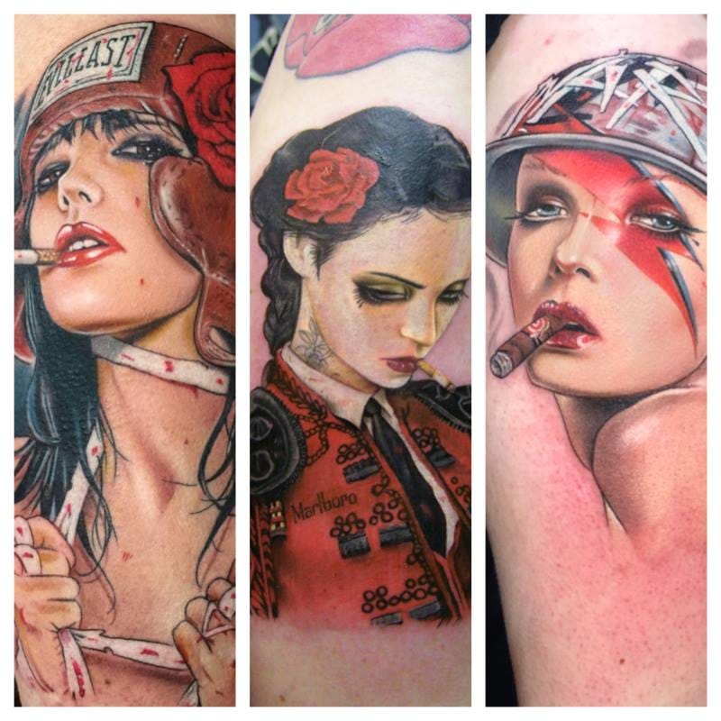 The absolute reference when it comes to tattoos inspired by Brian M. Viveros (as well as sexy ladies) is indeed David Corden.
