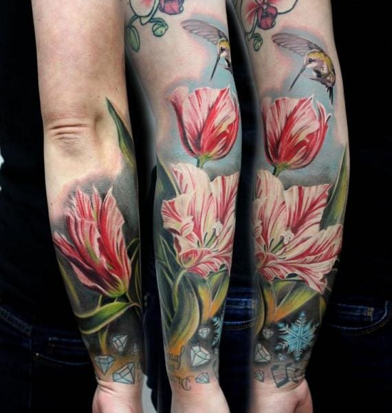Another great flower tattoo by Puedmag Custom Ink Tattoos