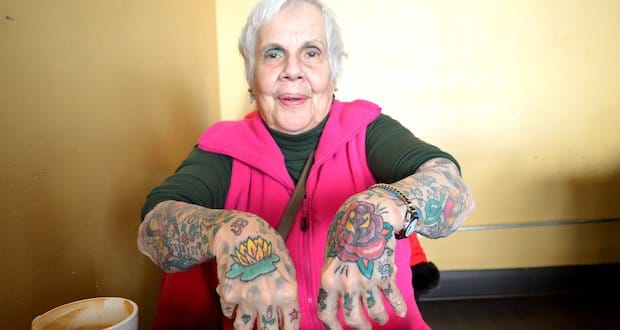She's over fifty and has tattoos does this mean she's having a personal crisis??