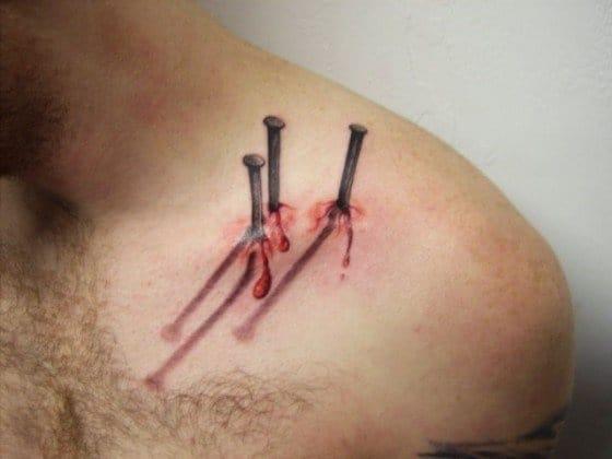 Nails 3D tattoo #nails #bloody