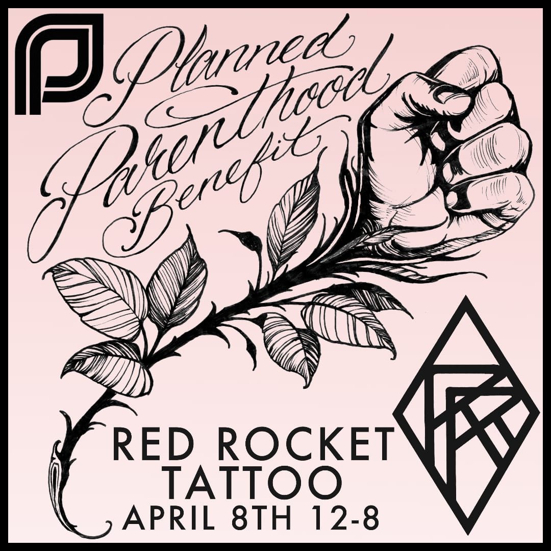 Red Rocket Tattoo Welcomes Walk-ins for Planned Parenthood NYC