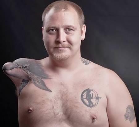 Dolphin 3D tattoo #dolphin