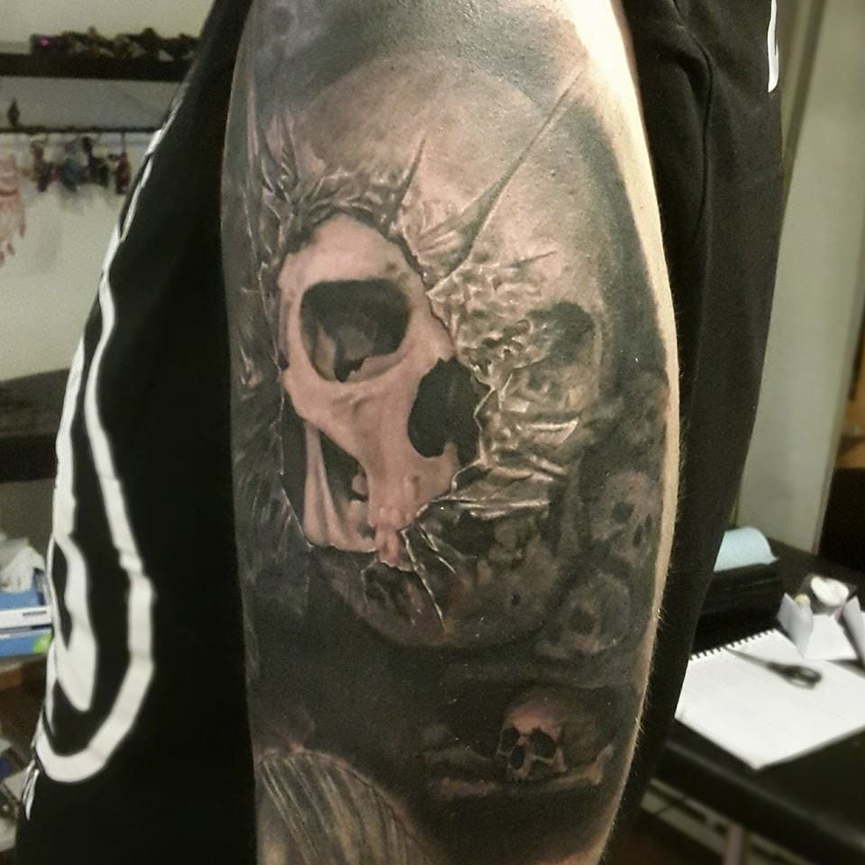 They are coming for you... Alex Ant tattoo. #horrortattoo #horror #AlexAnt #skull