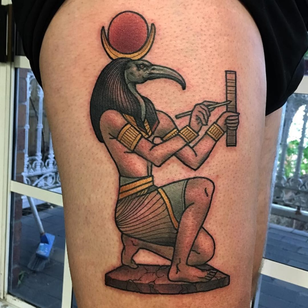 Tattoos Honoring Thoth, the Most Creative Egyptian God