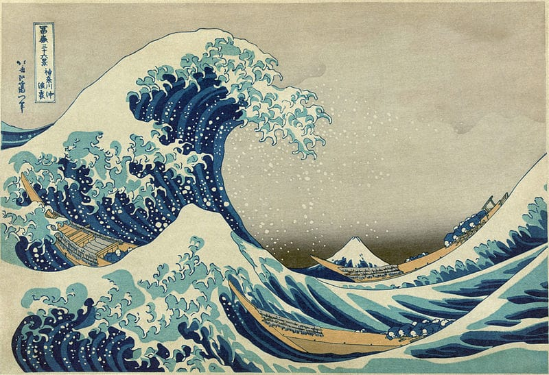 The Great Wave Off Kanagawa was published by Hokusai between 1830 and 1833 #wave #japanese