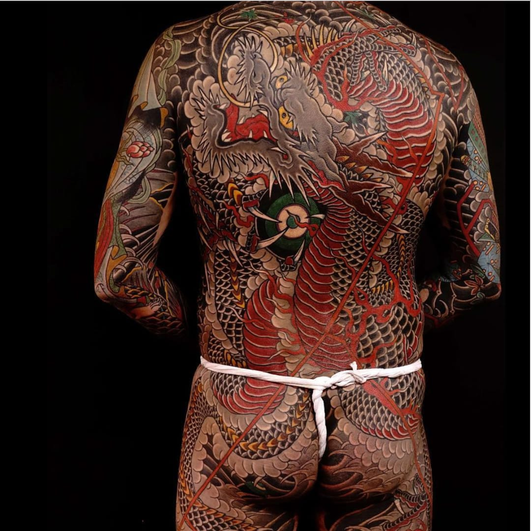 tremendous traditional japanese dragon tattoos tattoodo. Black Bedroom Furniture Sets. Home Design Ideas
