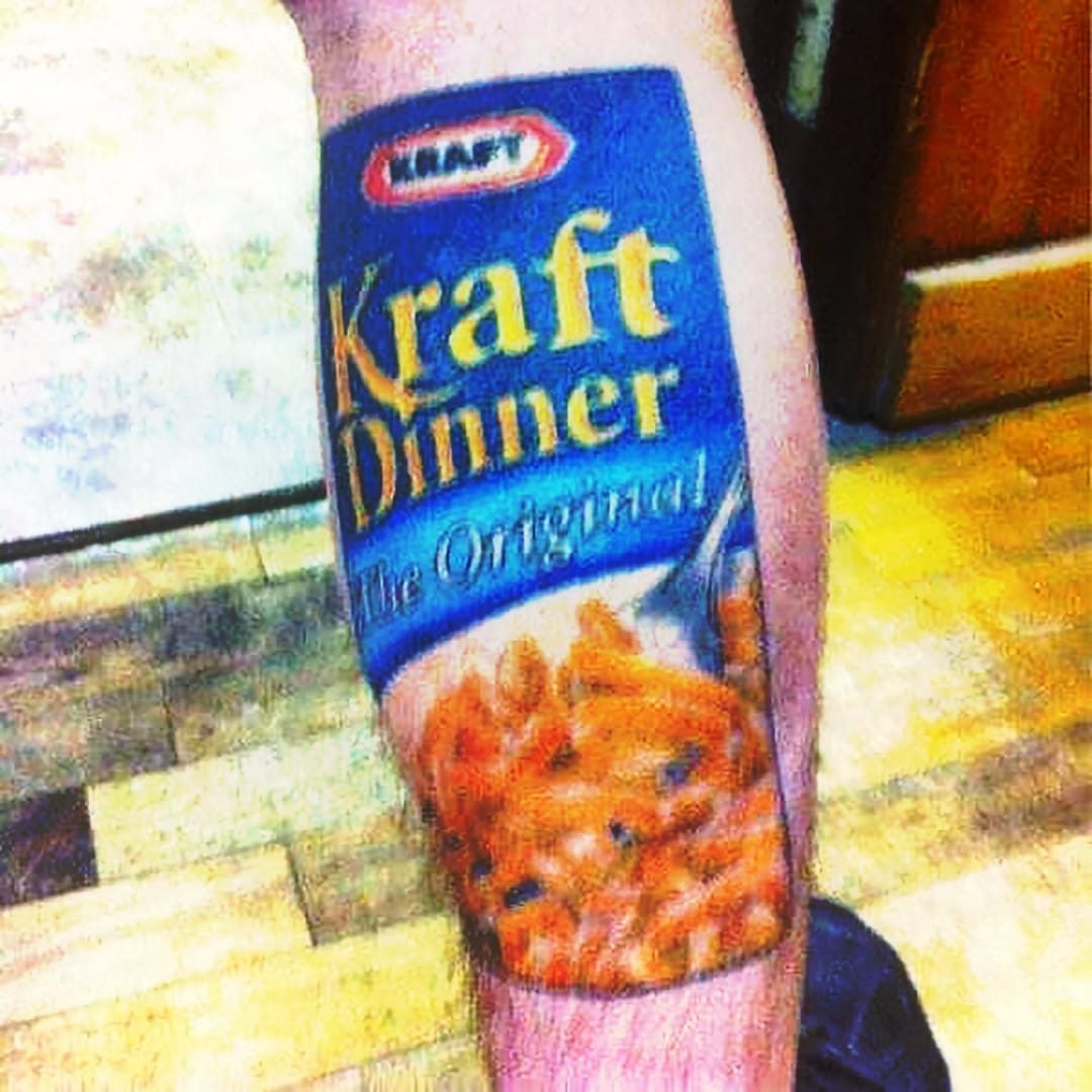 Out of the Blue Box and Into Our Hearts, Kraft Mac and Cheese Tattoos