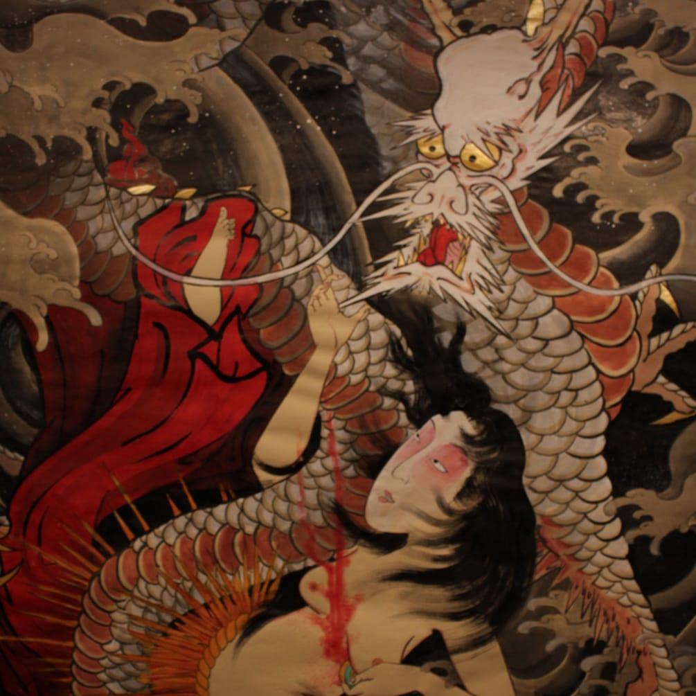 Crez's Paintings and Tattoos of Traditional Japanese Dragons