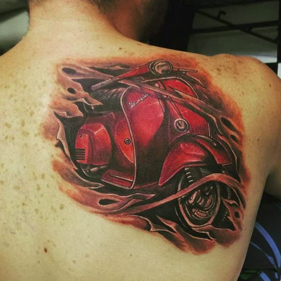 Scooting Along With Some Cool Vespa Tattoos